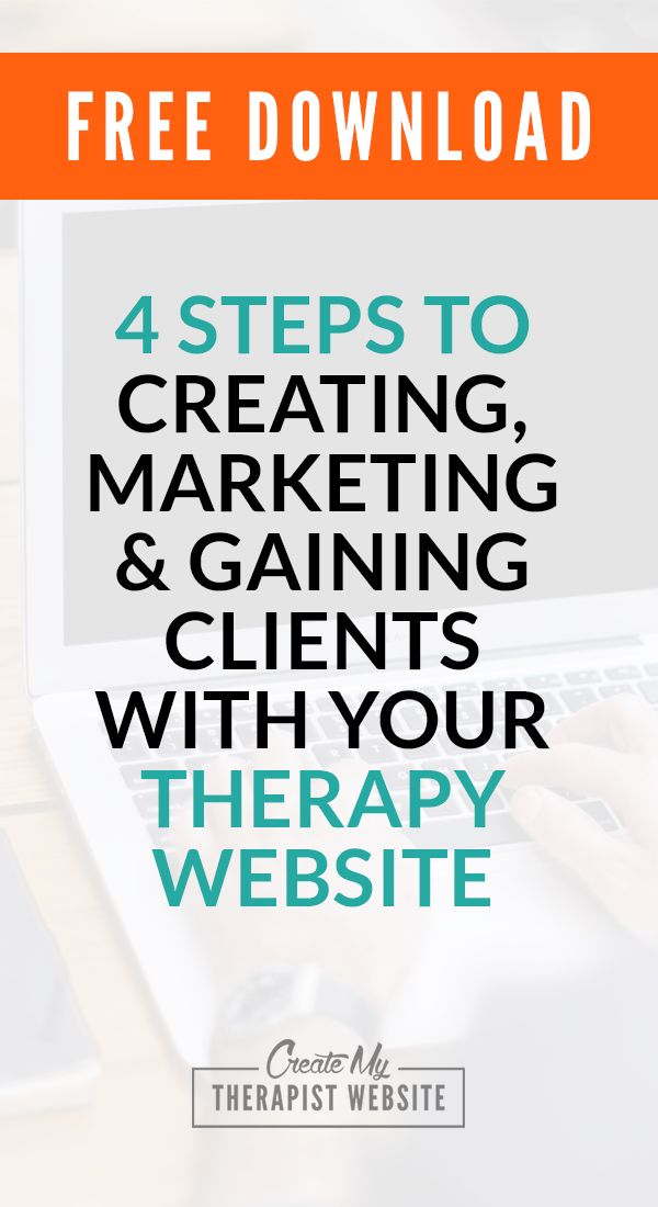 Counseling Resources: 4 Steps to creating, marketing & gaining clients with your therapy website...   These are the same steps I used to build and grow all the websites for my freelance web design business (including the site I made for my wife's successful private therapy practice).  http://www.createmytherapistwebsite.com/free-cheat-sheet/