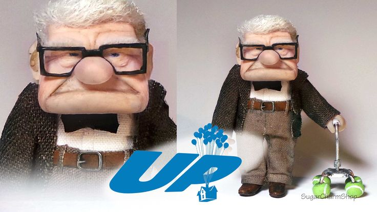 ~(want to make from fondant) Mr. Carl Fredricksen Inspired Doll - Polymer Clay Tutorial (Disney's UP)~