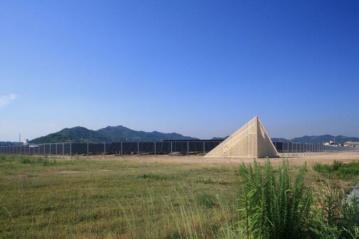 The Mega Solar Belvedere, triangulated Accoya® structure in Japan. #accoya #wood