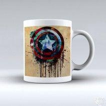Avanger Captain America Shield White Mug