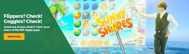 Swim on over to your Mr Green account and play 'Sunny Shores' in between 00:00 CEST on July 17th and 23:59 CET on July 23rd to win your share of the €8,000 prize pool. #mrgreen #news #Slot #Tournament