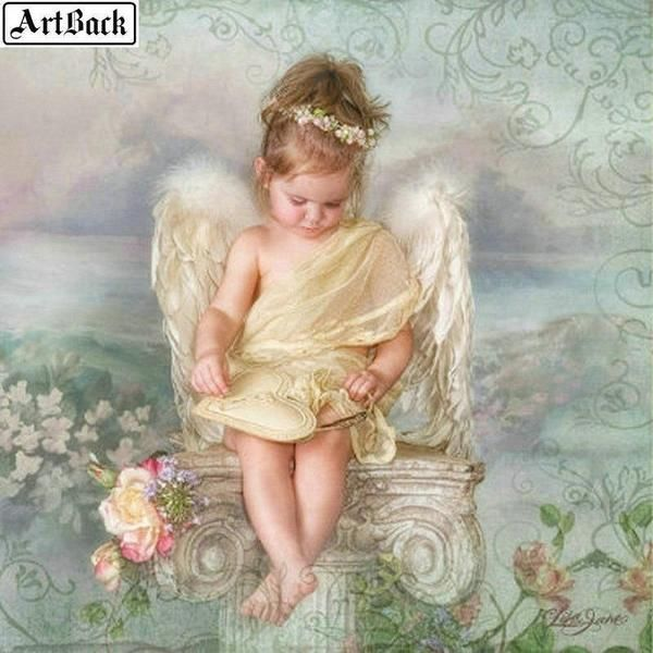 5D Diamond Painting I Believe in Angels Kit