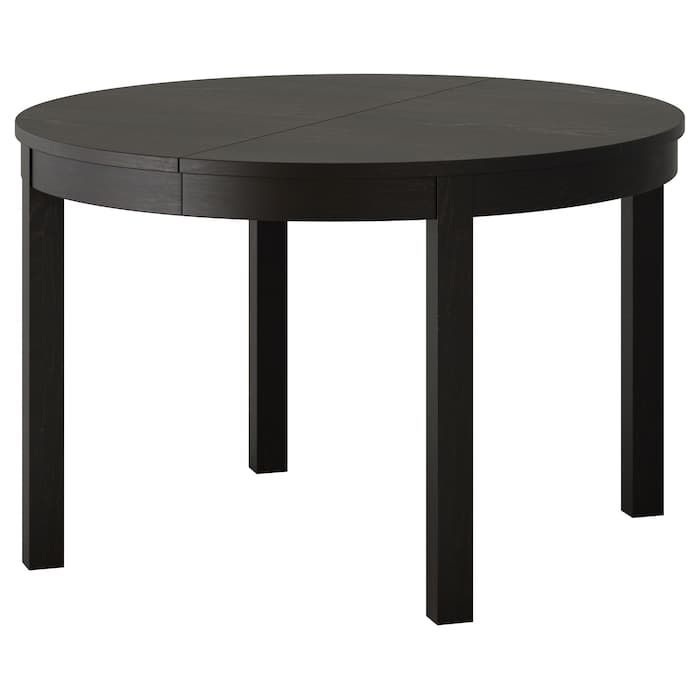Bjursta Extendable Table Brown Black 45 1 4 65 3 8 Dining
