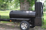 "Lang Smokers 60"" Deluxe Trailer Mounted Smoker. Made in Georgia. I sure hope one of these follows me home someday!"