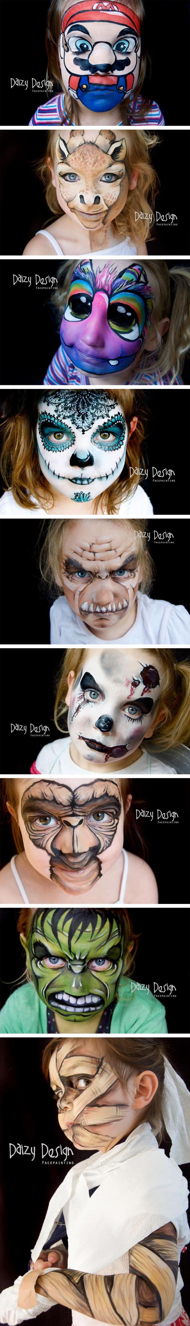 Awesome Face Paintings... These are slightly terrifying....