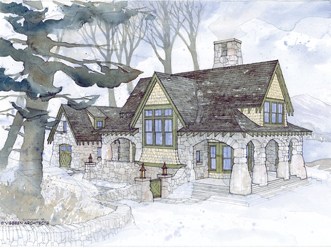English Stone Cottage House Plans With Tiny On Small Style Design