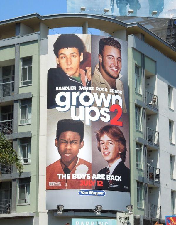 grown up 2 movie billboard | ... Kevin James movie billboards and Adam Sandler movie billboards too