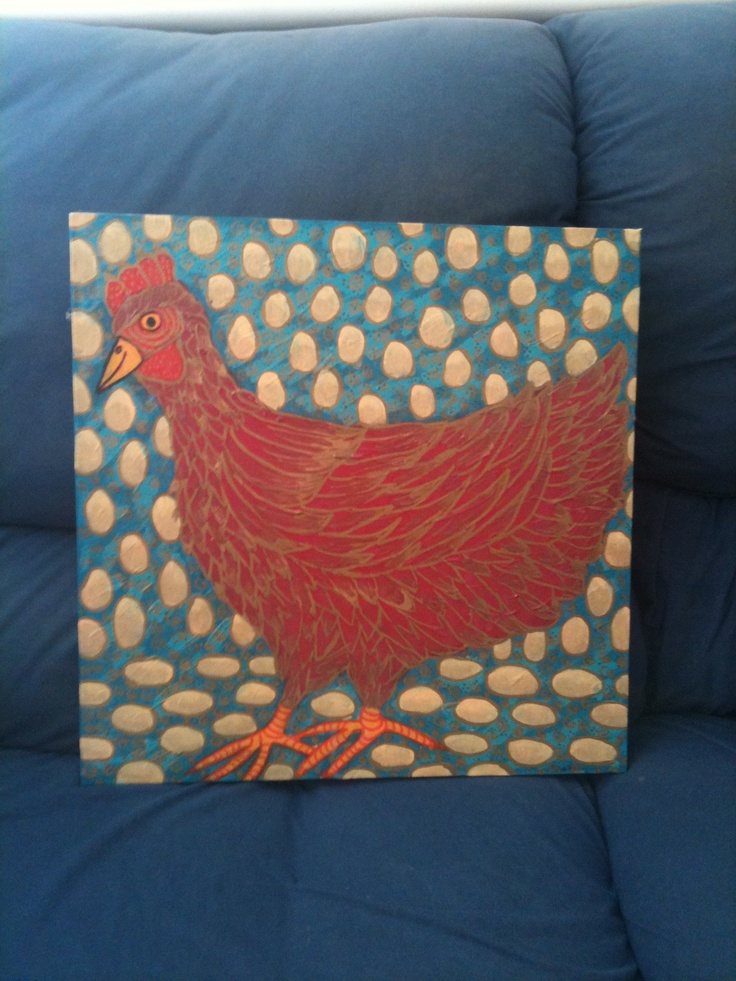 """""""The red chicken of happiness"""" by Margie Thomas"""