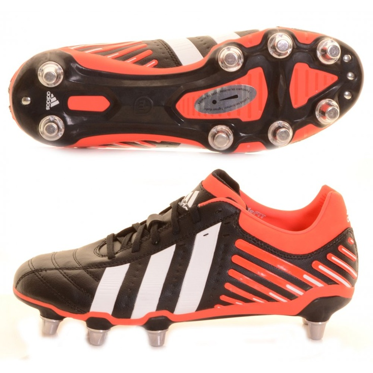 new arrival 87828 6ec45 ... Adidas Adi-Power Kakari Rugby Boot Black, Red and White - £90.00 at ...