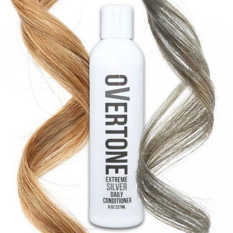 oVertone silver color conditioners are a MUST if you have dyed gray hair you want to maintain. Don't let your silver hair dye fade!