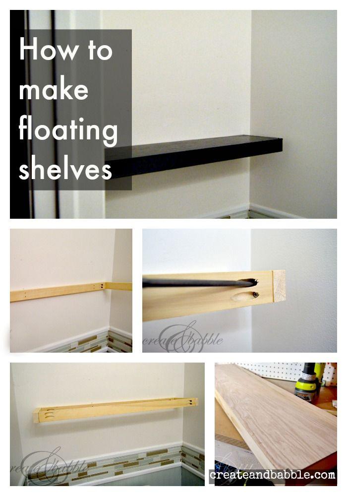 How To Make Floating Shelves Diy Pinterest Shelves Floating
