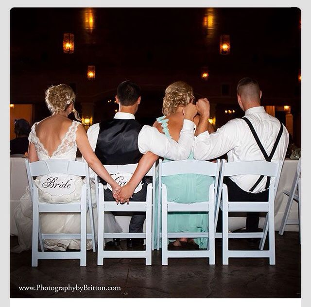 I would love this instead of maid of honor and best man maybe my brother and his sister if he has one?