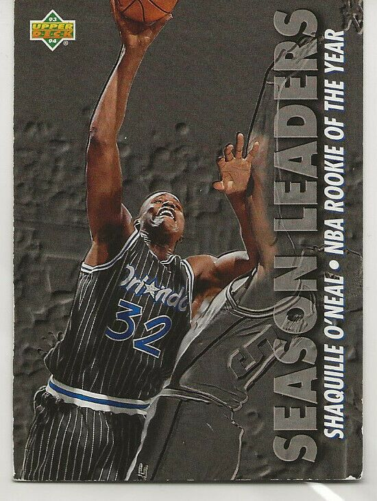 Rookie Of The Year Shaq Shaquille Oneal Nba Card Ebay