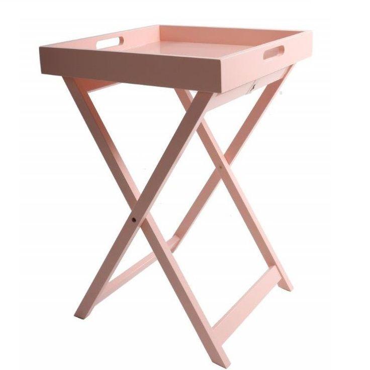 Różowy stolik taca Interstil Interior - rozkładany - NieMaJakwDomu / rose quartz