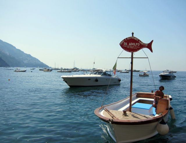 If our first beach day in Positano was all about ease and comfort, our second beach day was a bit more adventurous. Gillian kept saying we were going to th