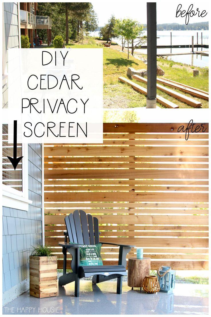 How To Build A Diy Cedar Privacy Screen Privacy Screen Outdoor Diy Privacy Screen Outdoor Backyard Privacy