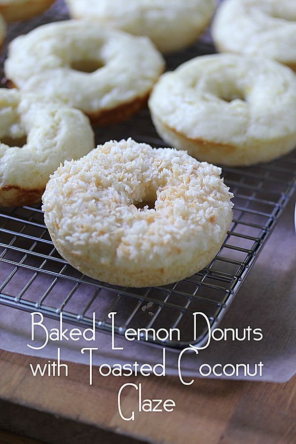 Baked Lemon Donuts with Toasted Coconut Glaze (Sweet Peas and Saffron)