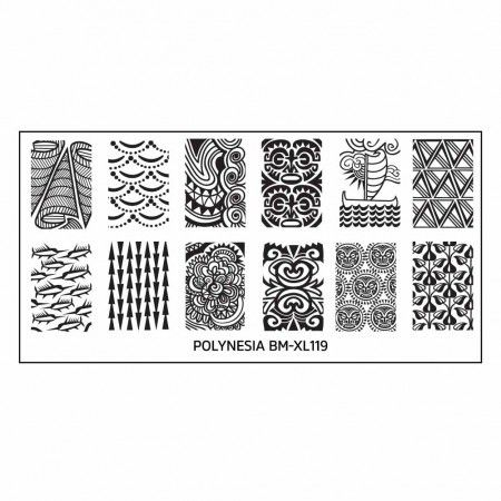 This stamping plate offers you 12 amazing designs to give you a tribal look on your nails.
