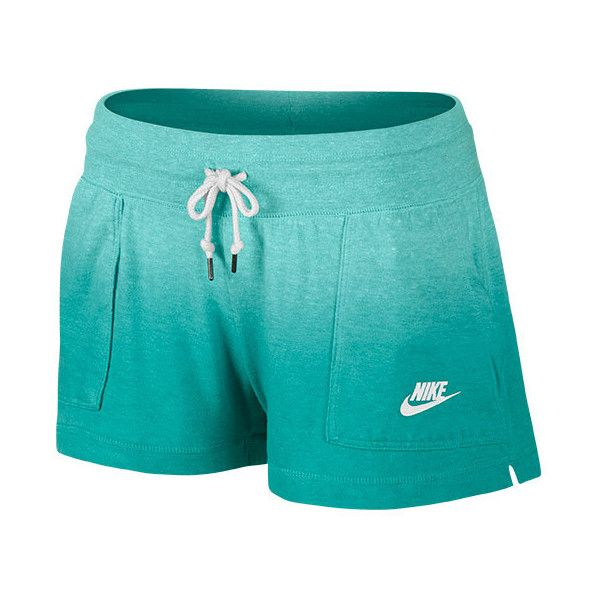 Women's Nike Gym Vintage Dip-Dye Shorts featuring polyvore, fashion, clothing, shorts, dip dye shorts, vintage shorts, short shorts, summer shorts and lightweight shorts