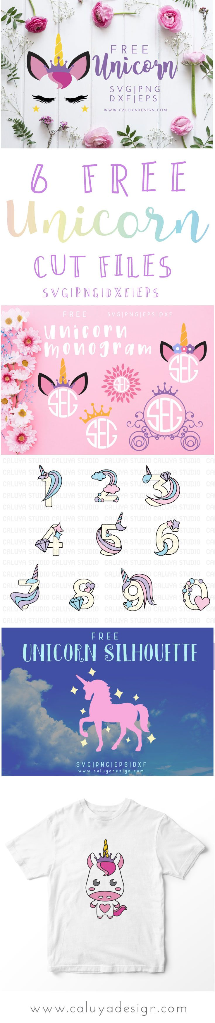 6 FREE unicorn SVG cut files. compatible with Cric…  - https://buyantlerchandelier.com
