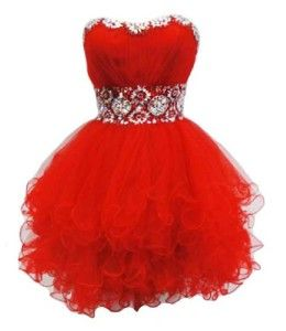 Cute cheap short corse tutu  poofy tutu red formal prom homecoming party dresses 2016 tootoo