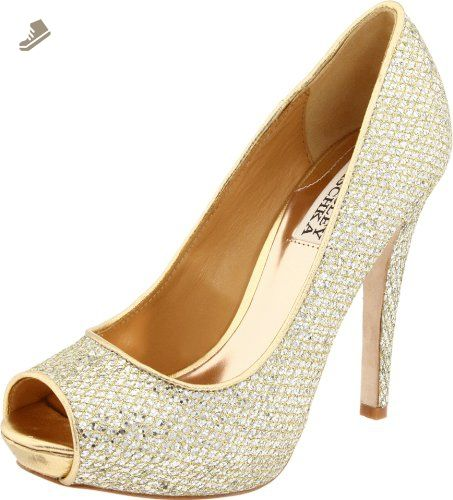 Badgley Mischka Women's Humbie II Pump,Gold Glitter,7 M US - Badgley mischka pumps for women (*Amazon Partner-Link)