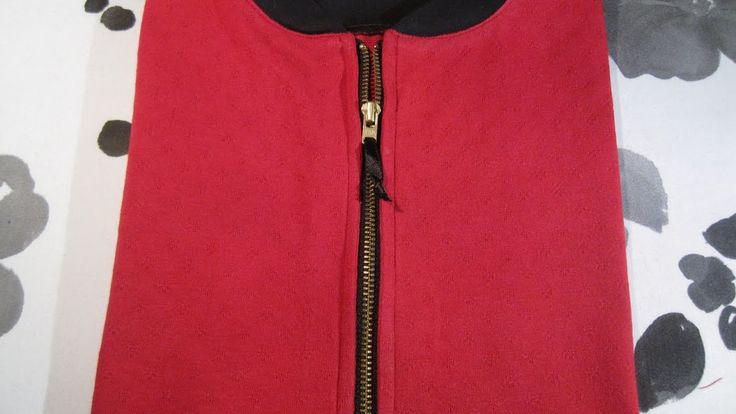 #24 Sy en snyggt sprund med dragkedja och halsmudd i trikå! #zipper