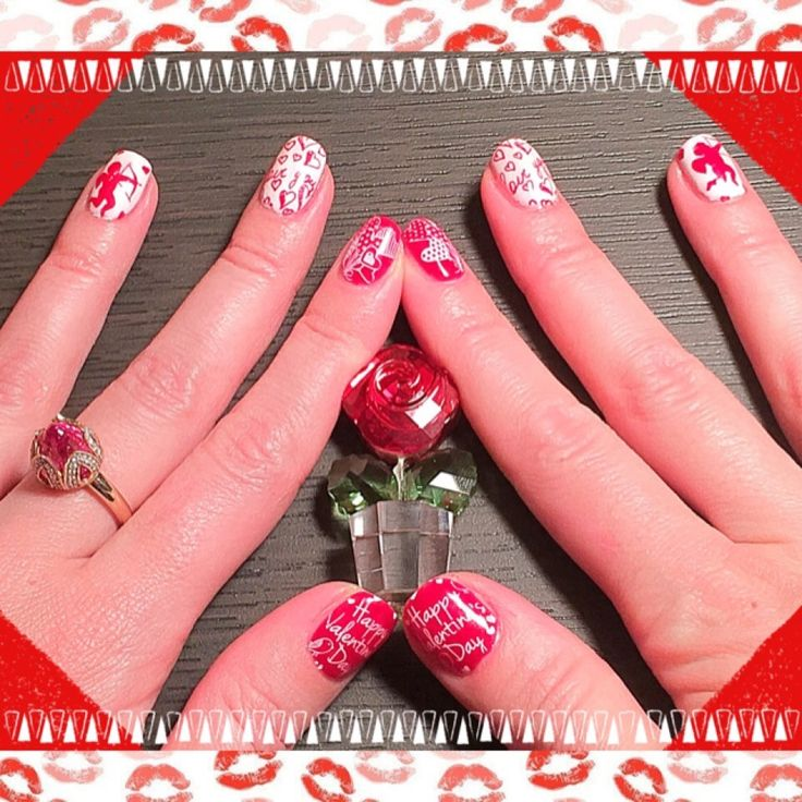 Маникюр на День Святого Валентина! #konad #moyoulondon  #stampingnailart #shellac #nails #nailart #nailpolish #gelish #shellacnails #shellacmanicure #cnd #ногти #маникюр #шелак #гельлак#manicure #стемпинг  #beauty #beautiful #instagood #pretty #girl #girls #stylish  #nailart #art #stamping