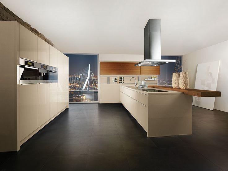 Bruynzeel Keuken Hoogglans Wit : Bruynzeel Optima Saffier keuken in het zandgrijs hoogglans Ideeen