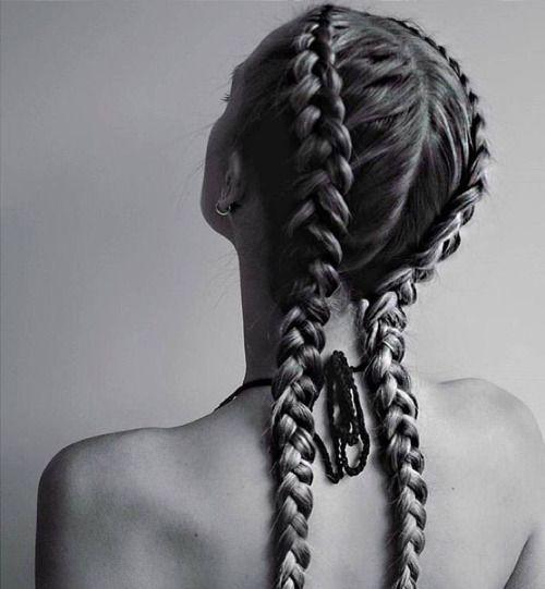 Dutch braid / inverted French braid                              …