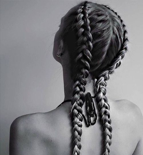 Dutch braid / inverted French braid                              …