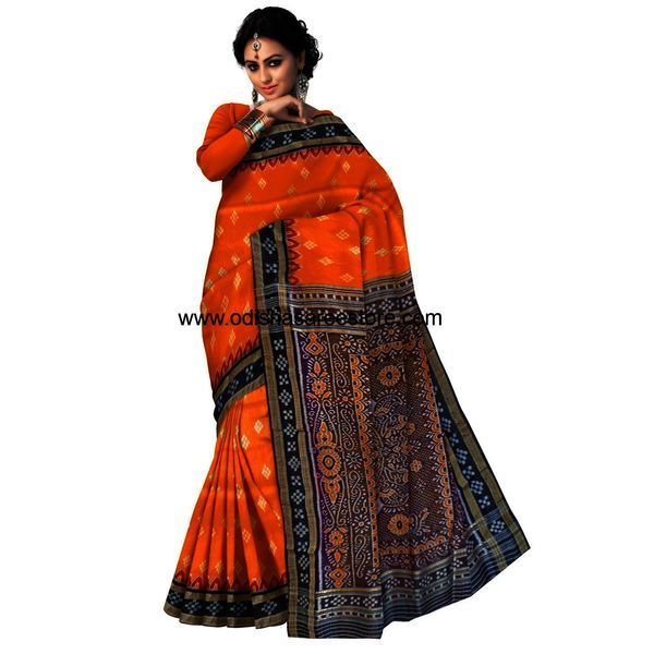 Handloom khandua silk saree available for online shopping. - Odisha Saree Store
