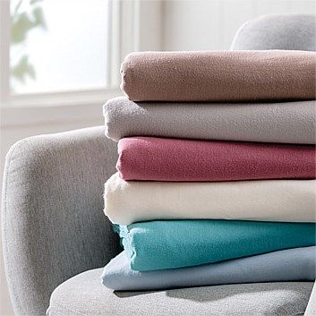 Briscoes - Essential Collection Plain Dyed Flannelette Sheets