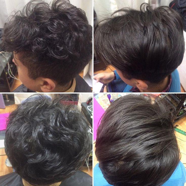 Alisado Keratina en cabellos cortos #javianabeauty #instagramchile #hairstyle…