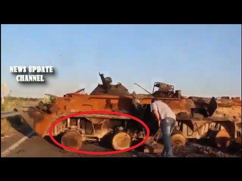 Ukraine War 2014 → Tool Combat Burned In Blown Bridge, Lugansk | 11.9.2014