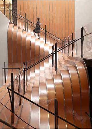 Escada Ondulada. amazing stair art.