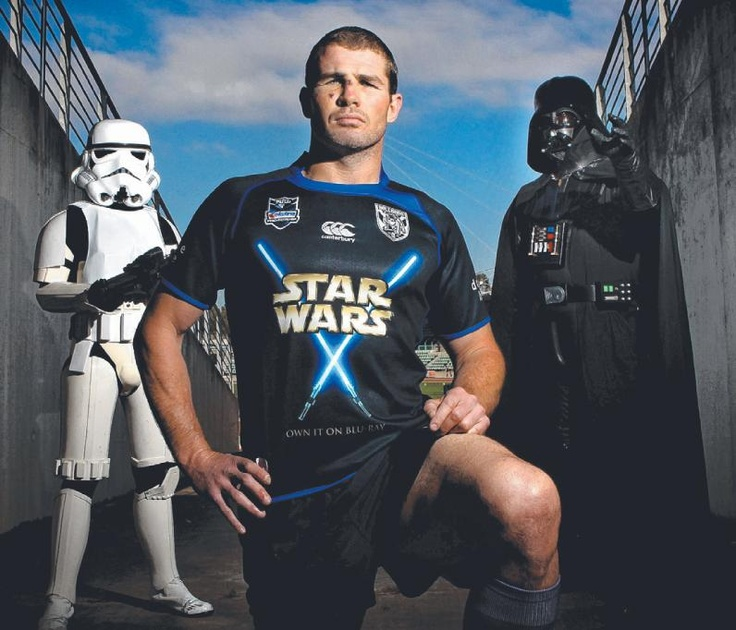 """Former captain Andrew """"Bobcat"""" Ryan in a Star Wars promotional one game only jersey."""