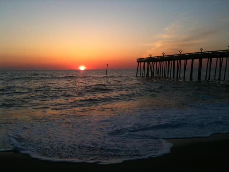 Kitty Hawk, NC pier: Favorite Places, Interesting Places, Kitty Hawk, Sunset, Happy Places, Beautiful Places Trips, Ive, List Places