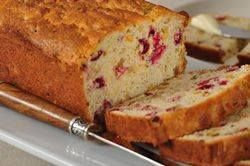 This Cranberry Bread contains the delightful combination of fresh cranberries, candied mixed peel and toasted almonds. From Joyofbaking.com With Demo Video