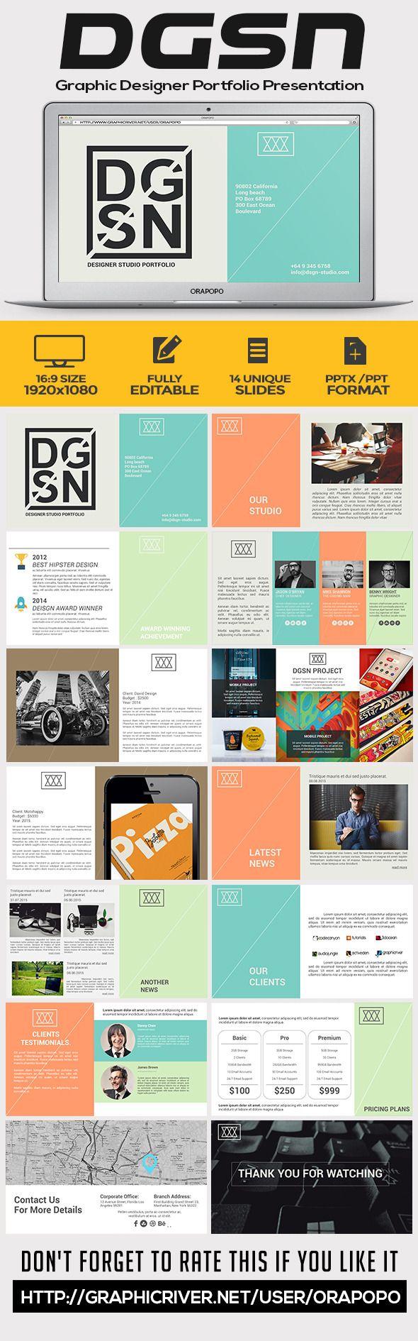 DGSN Graphic Designer Portfolio Presentation - Creative PowerPoint Templates