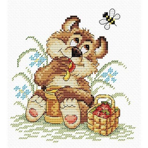 Cross Stitch Kit Bear M-076