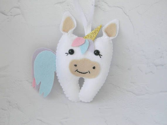 UnicornTooth Fairy Pillow Girl tooth fairy pillow Personalized
