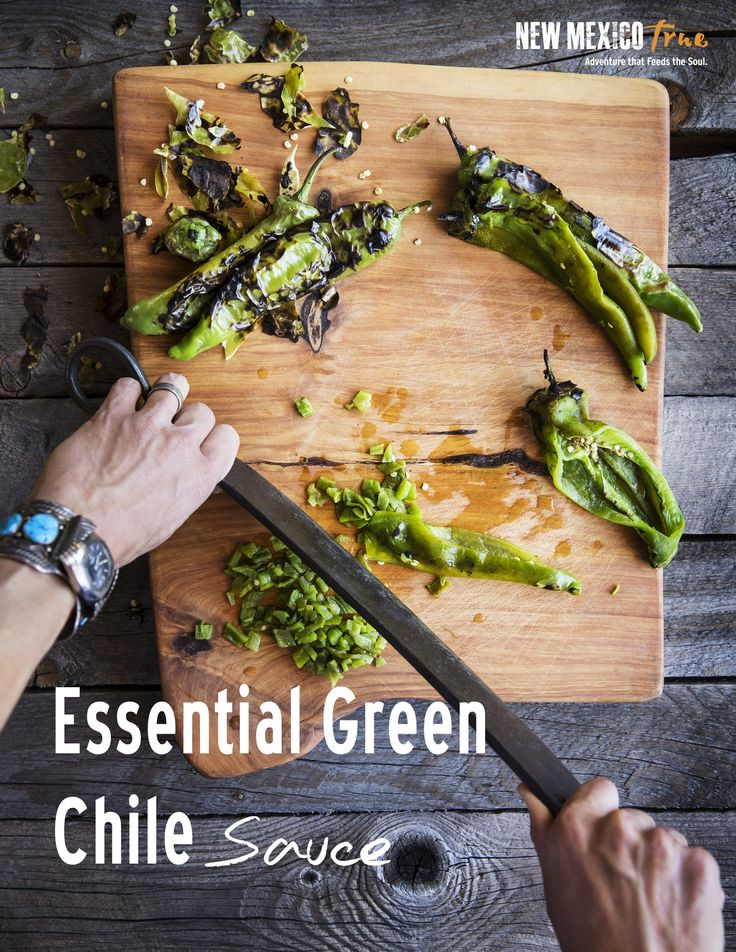 The best New Mexican green chile sauce recipe! Use to make green chili stew, enchiladas, smothered burritos, green chile cheeseburgers or add to just about anything for a punch of unbeatable flavor. This is a great make ahead dish to store in the freezer. And, can easily sub veggie stock for a great vegetarian dish.