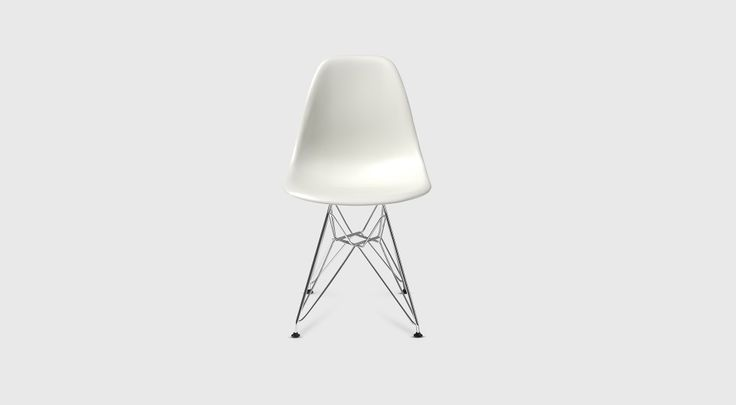 Eames® Moulded Plastic Side Chair - Eiffel Base (DSR) - Living Edge