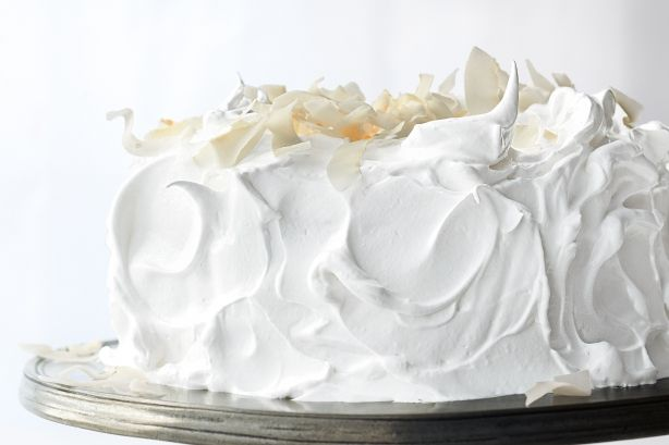 From the kitchens of Martha Stewart comes this luscious, light-as-air raspberry white cake.