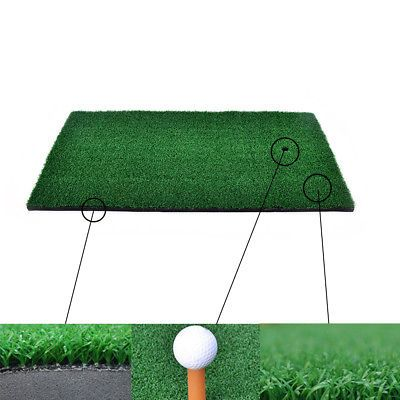 Backyard Golf Mat Residential Training Hitting Pad Practice Rubber Tee Holder FM