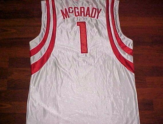 Tracy McGrady 1 HOF Houston Rockets NBA Champion Red White Sewn Jersey 52 2XL #Champion #HoustonRockets