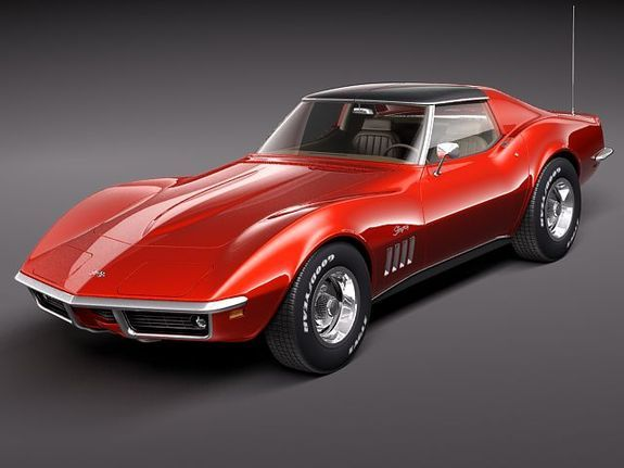 "1969 Corvette Stingray-a.k.a. ""My Dream Car!"" I don't need it, but I WANT this car! I'll take it in any color, as long as I can have a '69 coupe!"