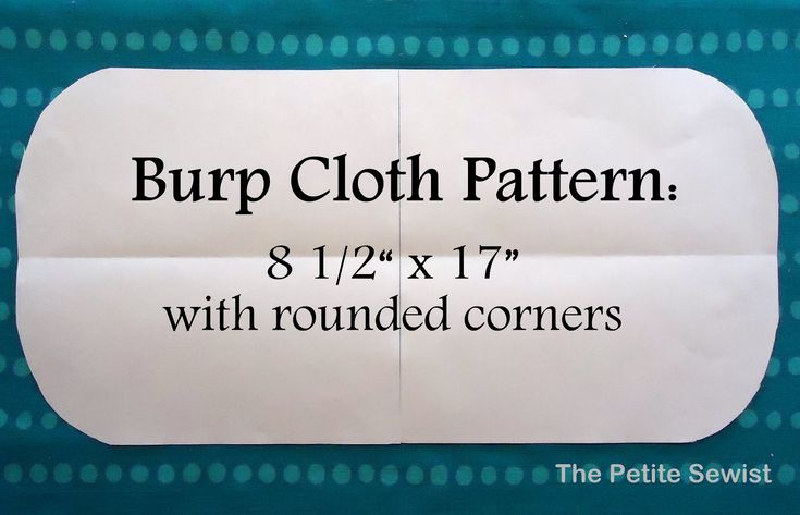 The Petite Sewist: Easy Peasy Burp Cloths Tutorial