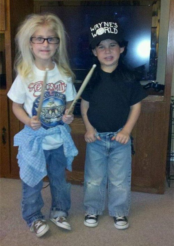 Wayne and Garth Costume for kids... Bahahaha idea for doodle and Lucas in a few years.
